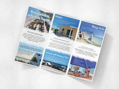 Design a Brochure for a Caravan Park