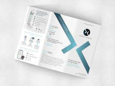Brochure design for a new IOT health device