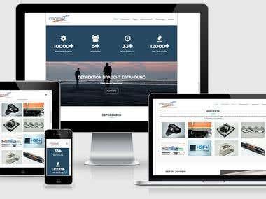 Text & Gestaltung WordPress-Website
