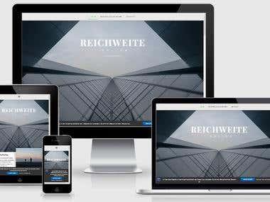 Gestaltung & Text WordPress-Website