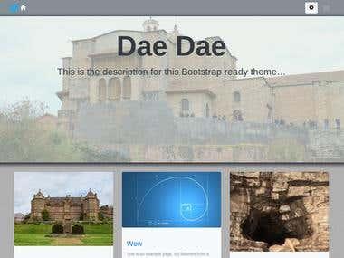 Daedae: Bootstrap 4 Wordpress Theme