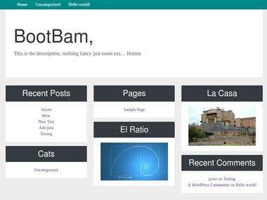 Bootbam: Bootstrap 4 Wordpress Theme