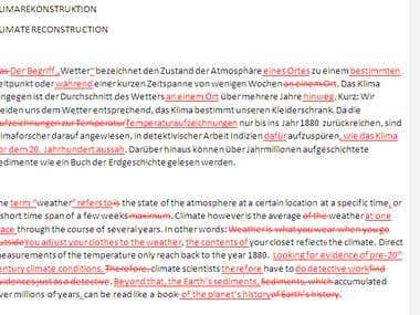 Proofreading/Editing: Texts for Swiss Museum (DE + EN)
