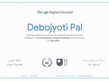 Digital Marketing Certificate from Google