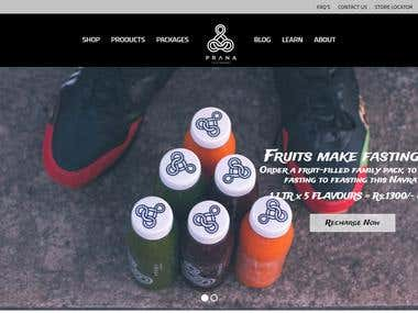 Cold Pressed Juice Website