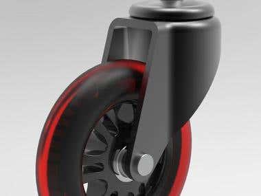 3D model of roller.