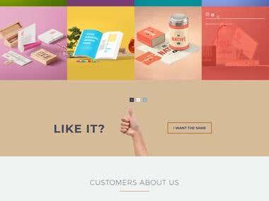 A small wordpress website design