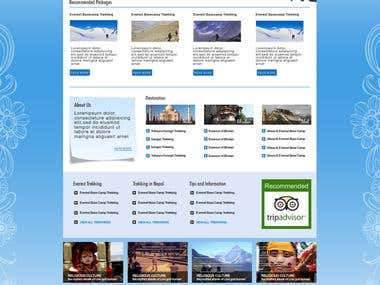PSD to HTML Conversion of a Travel Site