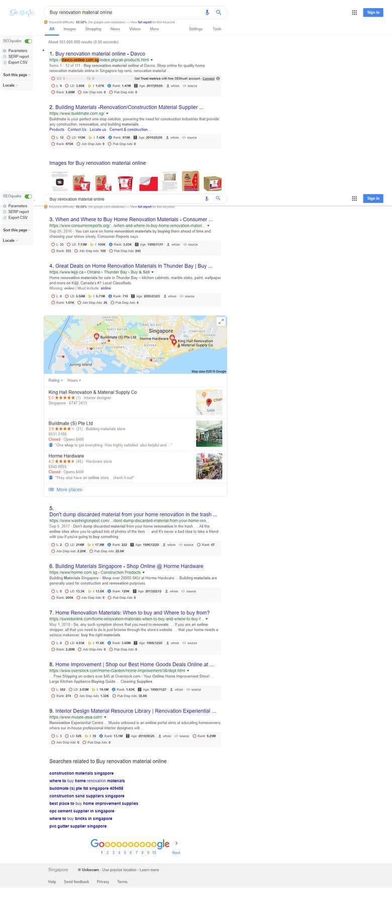 Google First Page Keywords Ranking   Freelancer