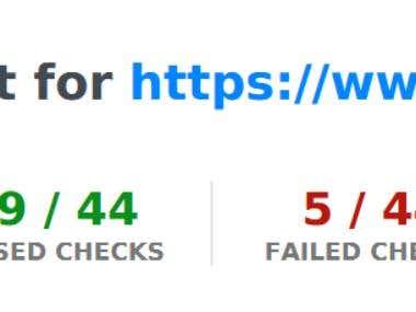 Audit site report