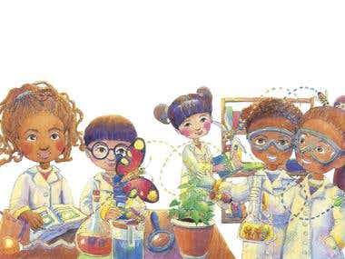 Kids science laboratory