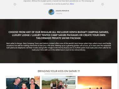 Wordpress Website for Safari