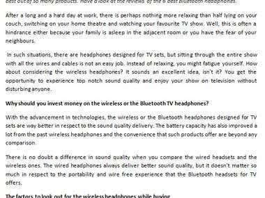 6 Best wireless headphones for TV