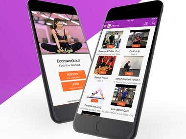 E-Workout(android, ios, backwend)