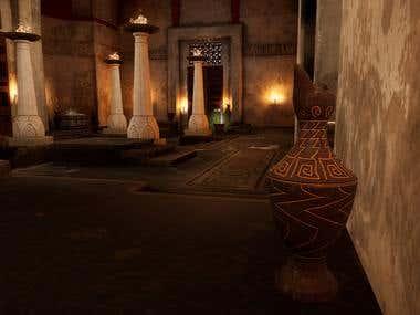 Greek Temple Interior