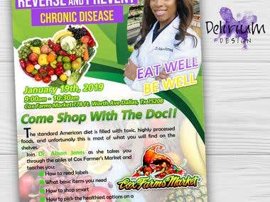 Digital Modern Flyer - Come Shop With The Doc