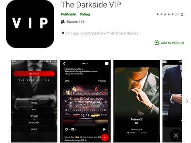 The Darkside VIP (Flutter app for both Android and iOS)