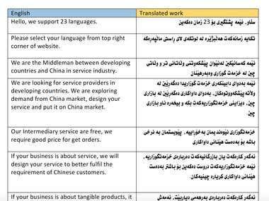 Data Entry, Translation