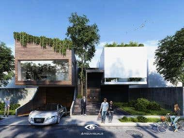House design and 3d rendering