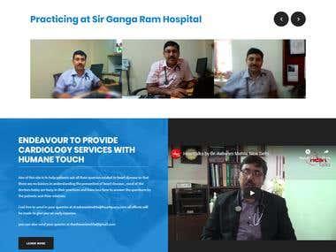 Dr. Ashwani Mehta - Wordpress Content Based Website