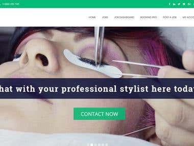 Spa and Beauty wordpress website development