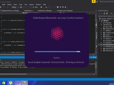 Desktop Application (GSM BASED BIOMETRIC ACCESS CONTROL SYS)