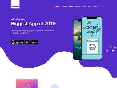 Apps landing page design for themeforest by me