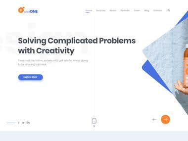 Product landing page design for themeforest by me