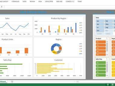 Excel Dynamic Dashboard