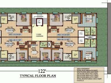 Architectural Plan Rendering