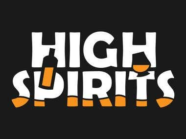 High Spirits logo design