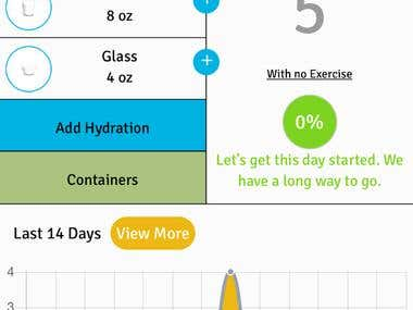 Hydration - Mobile app