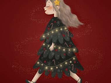 Christmas: Walking Christmas Tree