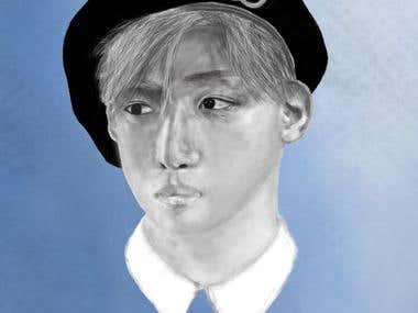Korean Pop Star Sketch