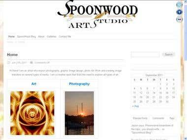 Spoon Wood Arts - Customized WordPressTheme