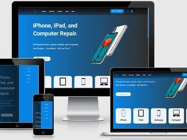 Phone Repair Services Website