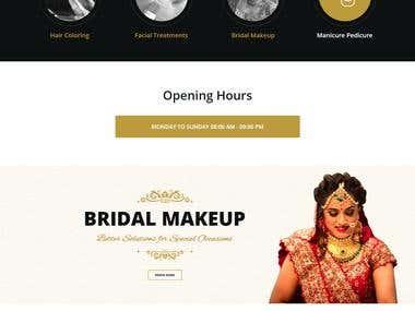 Saloon Website= Design & Develop