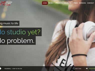 Studio Booking Website