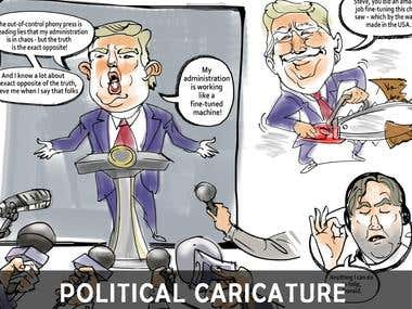 Political caricature