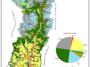 Land Cover Map of District Swat