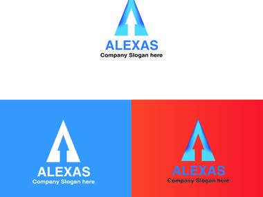 A letter arrow logo