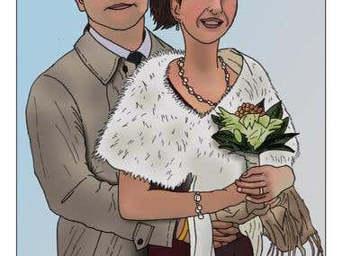 Commissioned Wedding Illustration