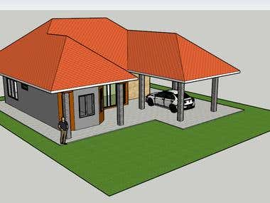 SINGLE MODERN BUNGALOW 1000SQ