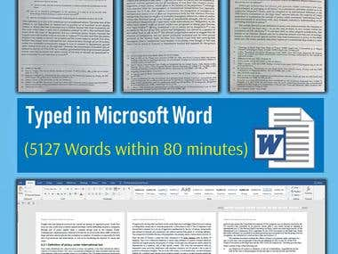 JPG to WORD (5127 words within 80 minutes)