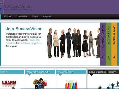 web design and web development for MLM website