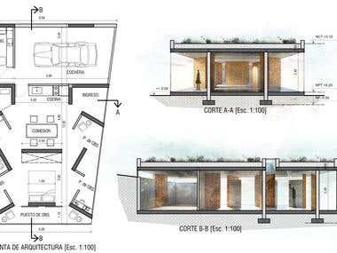 Floorplan + Sections