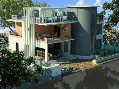 Exterior Duplex Designe