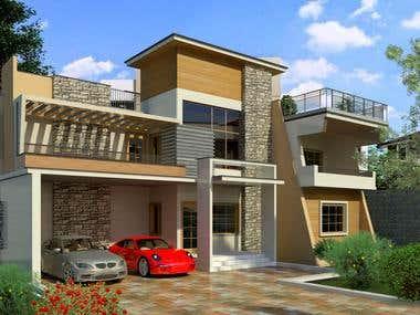 Exterior Duplex House