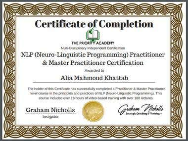 NLP Practitioner & Master Practitioner