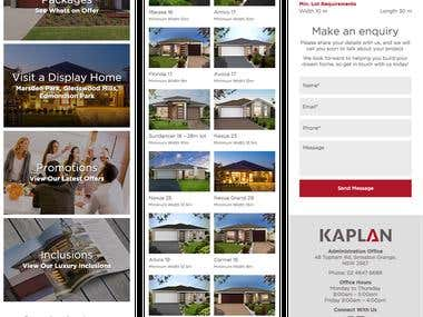 Mobile Responsive Wordpress Website - Kaplan Homes